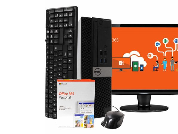 "Dell 5040 Business Desktop PC, Intel i5-6500 3.2GHz 8GB RAM New 1TB SSD, Windows 10 Pro, Microsoft Office 365 Personal, 19"" LCD, New 16GB Flash Drive, Keyboard, Mouse, WiFi, Bluetooth (Renewed)"