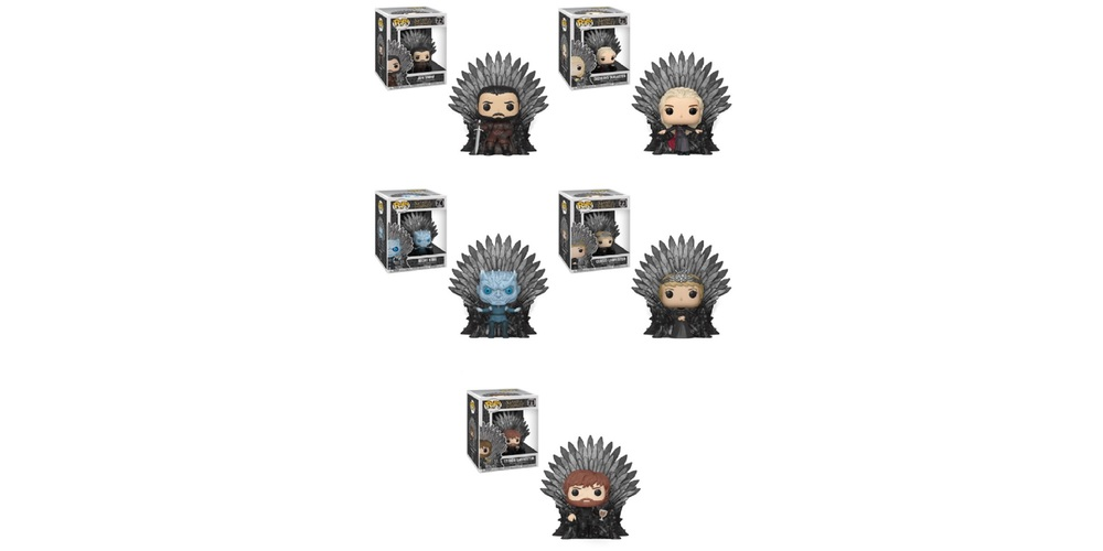 Game of Thrones Iron Throne Funko POP Deluxe – Bundle of 5 – S10, on sale for $143.69 (9% off)