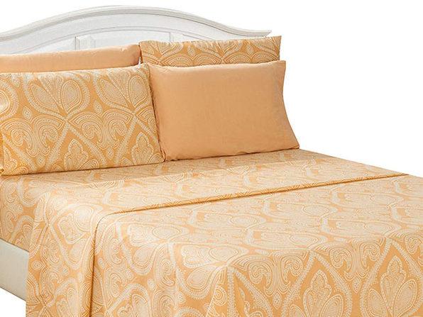 Paisley Sheet 6 Pcs Taupe - King - Product Image