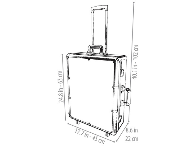 SHANY Studio ToGo Wheeled Trolley Makeup Case & Organizer with Light - BLACK for $399 6