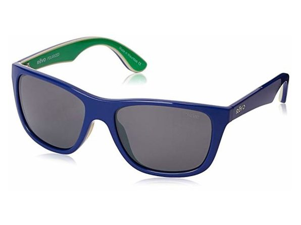 Revo Otis RE 1001 05 GY Polarized Sunglasses Blue/Green Graphite, 57 mm - Blue