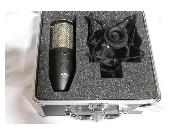 AKG Pro Audio P420 Dual Capsule Low Noise Electronics Condenser Microphone,Black