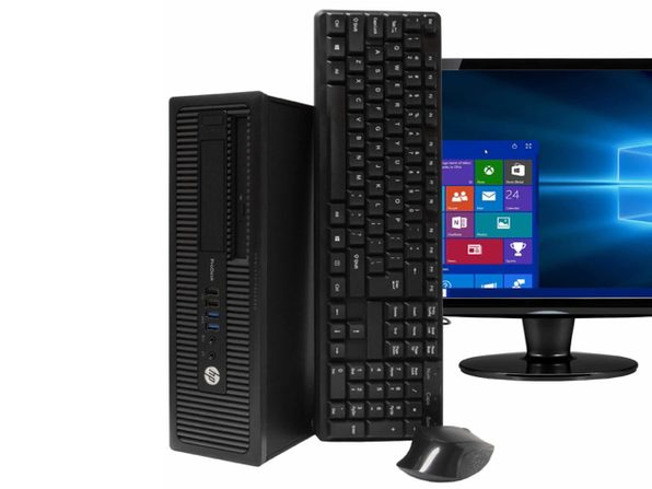 "HP ProDesk 600G1 Desktop PC, 3.2GHz Intel i5 Quad Core Gen 4, 16GB RAM, 240GB SSD, Windows 10 Home 64 bit, 22"" Screen (Renewed)"