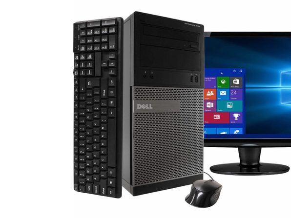 "Dell 390 Tower PC, 3.2GHz Intel i5 Quad Core Gen 2, 16GB RAM, 512GB SSD, Windows 10 Home 64 bit, 22"" Screen (Renewed)"