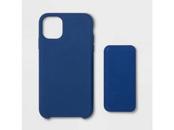 Heyday Apple iPhone 11 Silicone Case with 4000mAh Power Bank Combo with USB Cable, Dark Blue (New Open Box)