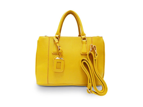 Yellow Satchel Handbag - Product Image