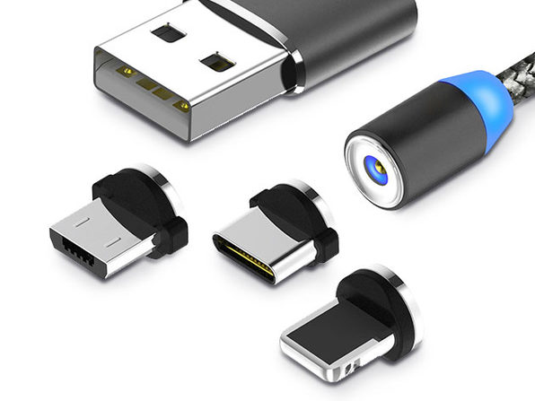 Magnetic 3-in-1 Charging Cable