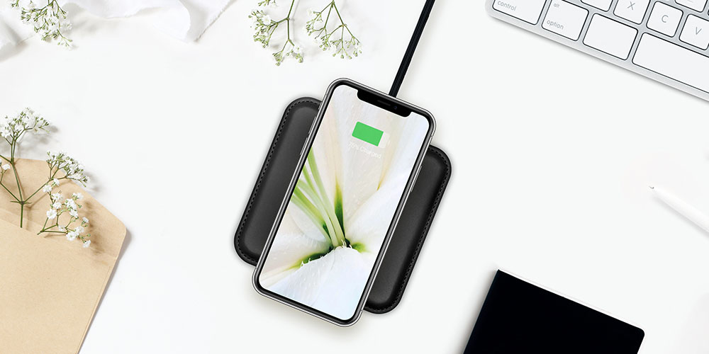 Genuine Leather Wireless Charging Pad, on sale for $24.99 (50% off)