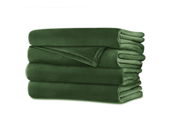Sunbeam Velvet Plush Electric Heated Blanket King Ivy Green - Ivy