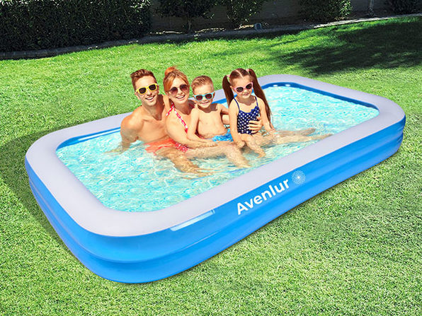 SunClub Inflatable Pool: 8-FT Rectangular - Product Image
