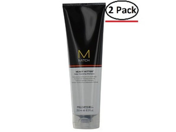 PAUL MITCHELL MEN by Paul Mitchell MITCH HEAVY HITTER SHAMPOO 8.5 OZ for MEN ---(Package Of 2)