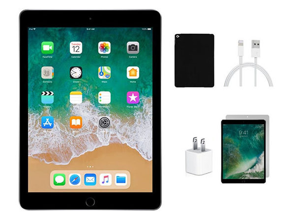 Apple iPad Air 32GB - Space Gray (Refurbished: Wi-Fi) + Accessories Bundle