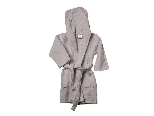 Alvare Luxury Kids Robe (Light Grey/Small-Medium)
