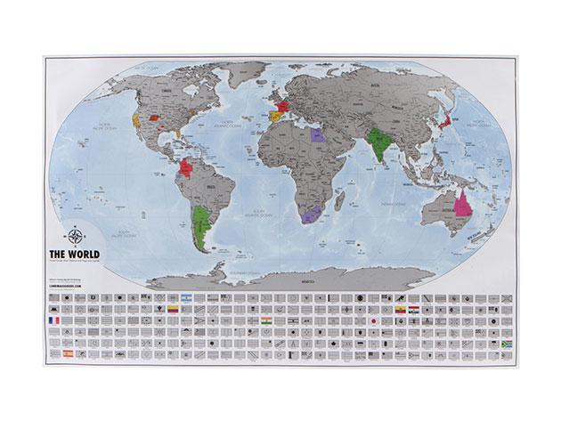 World Travel Tracker Scratch Off Map Platinum Citizen Goods