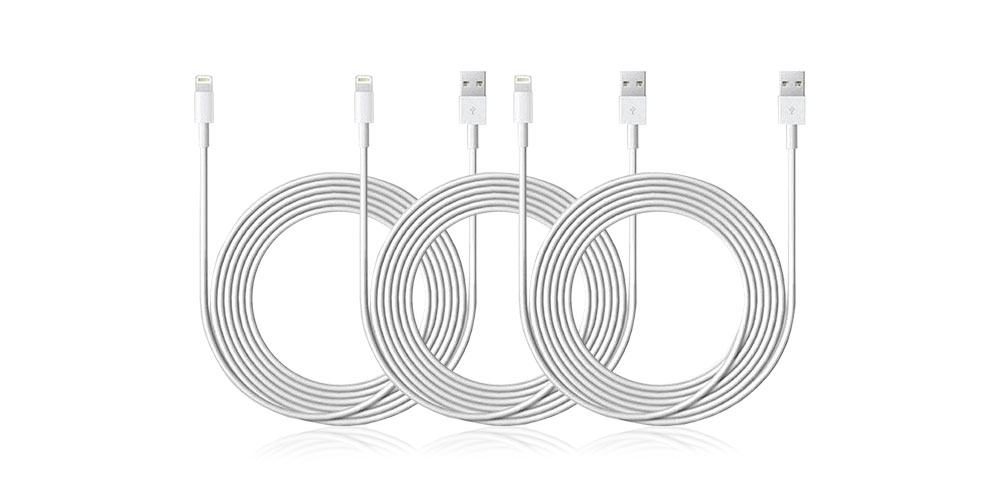 10-Ft Lightning Cable: 3-Pack