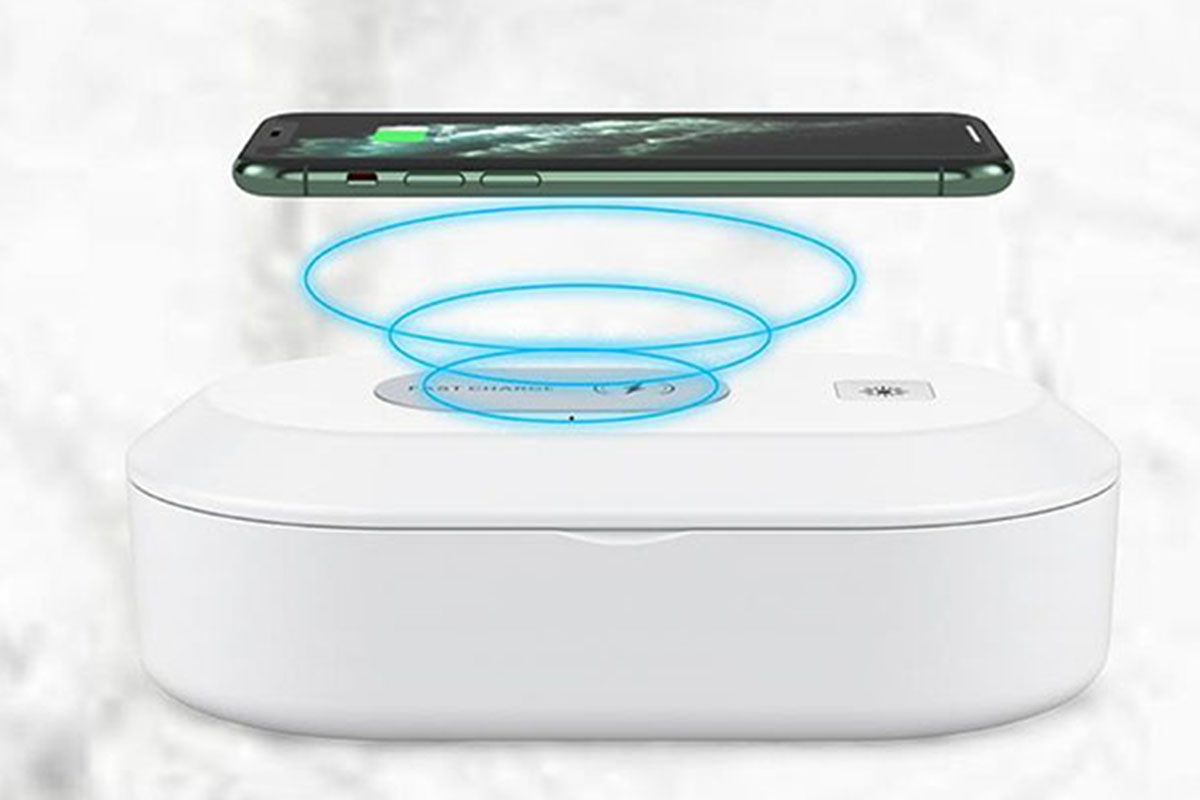 3-in-1 UV Sterilizer with Wireless Charger, on sale for $49.99 (66% off)
