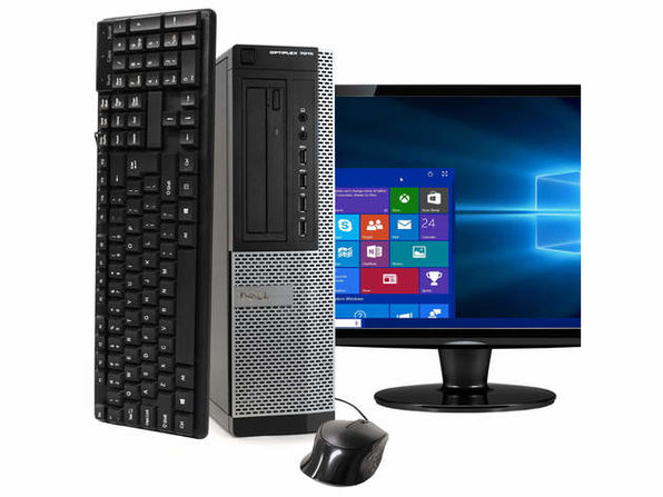 "Dell OptiPlex 7010 Desktop PC, 3.2GHz Intel i5 Quad Core Gen 3, 8GB RAM, 240GB SSD, Windows 10 Home 64 bit, 19"" Screen (Renewed)"
