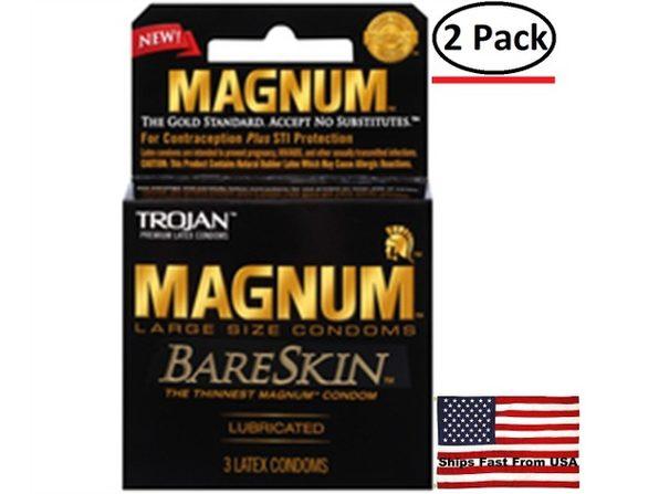 ( 2 Pack ) Trojan Magnum Bareskin - 3 Pack