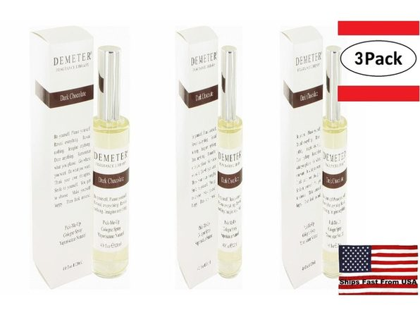 3 Pack Demeter Dark Chocolate by Demeter Cologne Spray 4 oz for Women - Product Image