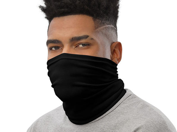Reusable Trendy Face Cover / Neck Gaiter (Ninja Black)