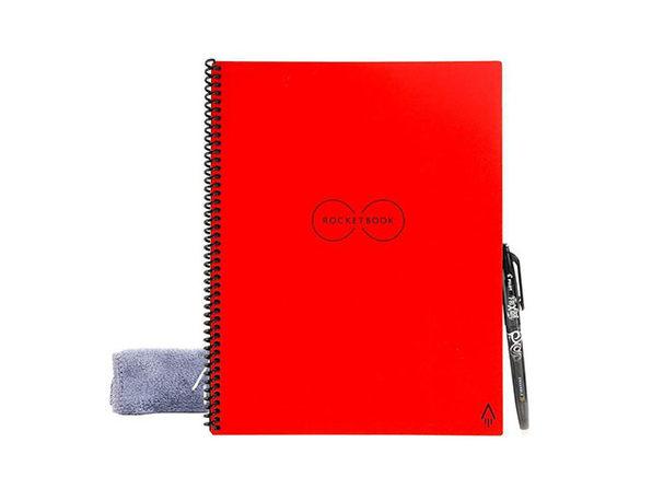 Rocketbook Everlast Reusable Notebook + Pen Station: 2-Pack (Executive) - Red