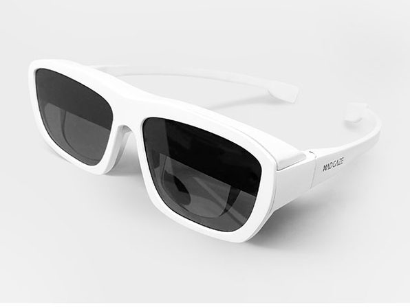GLOW Plus: Mixed Reality Smart Glasses (White)