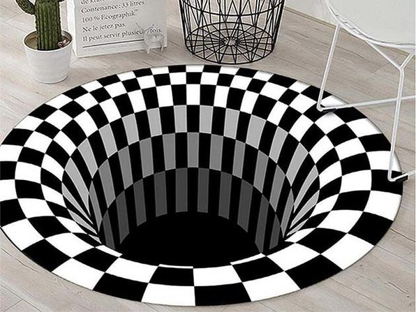 3D Bottomless Hole Optical Illusion Area Rug - 31x31in - Product Image