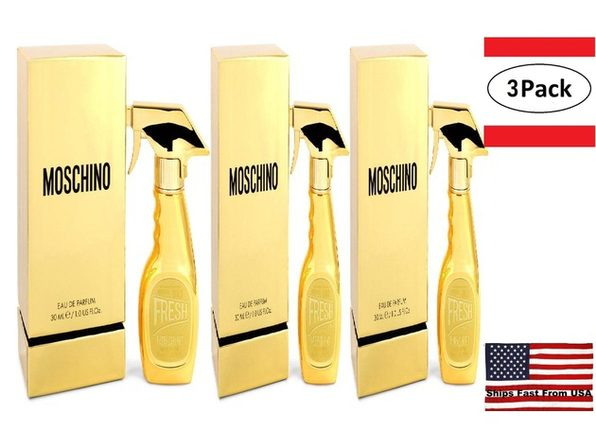 3 Pack Moschino Fresh Gold Couture by Moschino Eau De Parfum Spray 1 oz for Women - Product Image