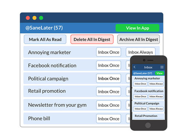 Free: 1-Month of Any SaneBox Subscription | StackSocial
