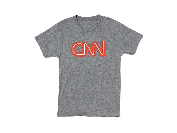 CNN Distressed Logo Tee Heather XL