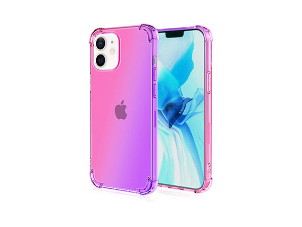 iPhone 12/12 Pro Dual Tone Case Pink & Purple - Product Image