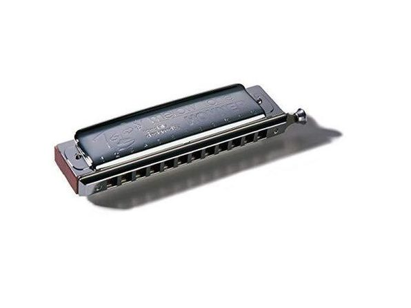Hohner Harmonica 7538-C Pear Wood Comb Smile & Tear Short Slide Action, Key of C (Used, No Retail Box) - Product Image