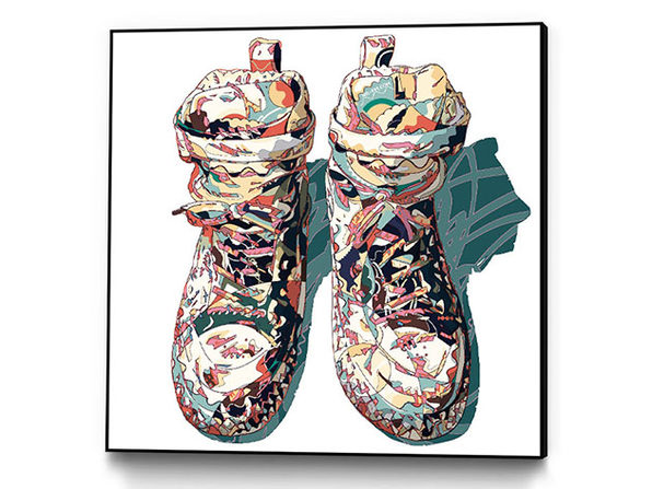 "Art Block Framed ""Sneaker"" by HR-FM"