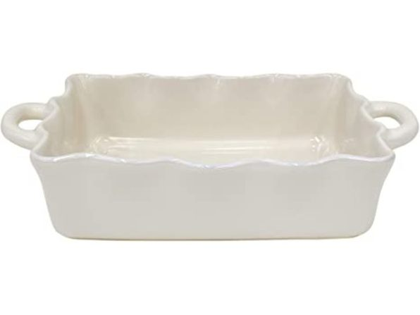 "Casafina Stoneware Ceramic Dish Cook & Host Collection,Medium Rect. 13.5"",Cream (New, Damaged Retail Box)"