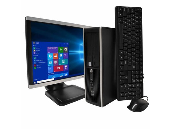 "HP Compaq Elite 8200 Desktop PC, 3.2 GHz Intel i5 Quad Core Gen 2, 8GB DDR3 RAM, 512GB SSD HD, Windows 10 Professional 64 bit, 22"" Widescreen Screen (Renewed)"