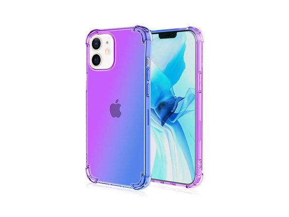 iPhone 12/12 Pro Dual Tone Case Purple & Blue - Product Image