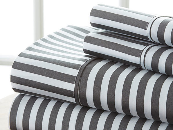 4 piece Striped Sheet Set- Cal King - Product Image