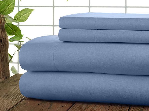 Kathy Ireland 4-Pc Coolmax Sheet Set - Full - Blue - Product Image