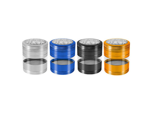 Aluminum Herb Grinder with Extra-Large Window