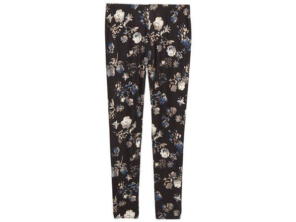 Epic Threads Big Girls Floral-Print Leggings Black Size Medium