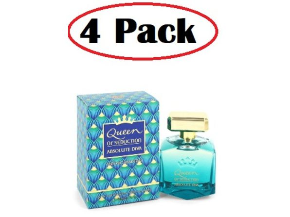 4 Pack of Queen of Seduction Absolute Diva by Antonio Banderas Eau De Toilette Spray 2.7 oz - Product Image