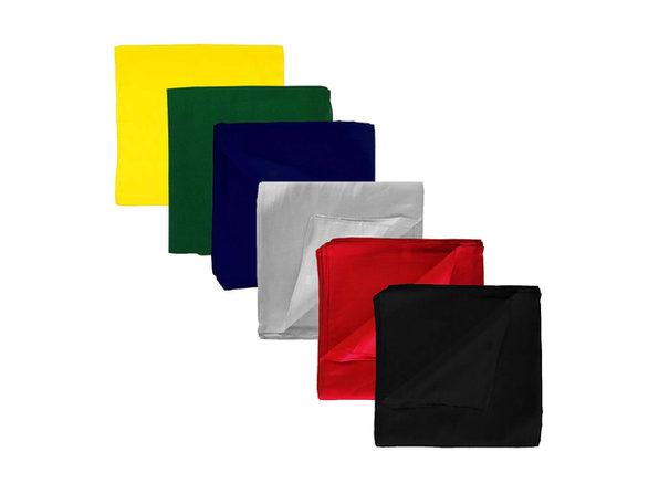 Set of 12 Solid 100% Polyester Unisex Bandanas - One Dozen - Black