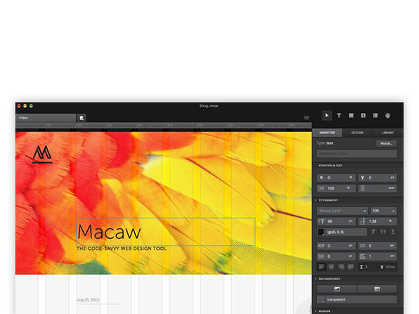 Macaw the code-savvy web design tool download
