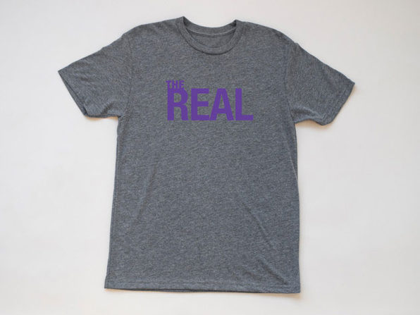 The Real Heather Gray T-Shirt (XXL)