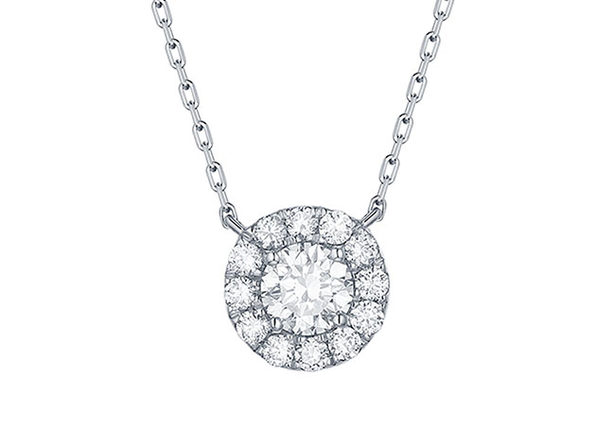 Lab-Grown Diamond Necklace in 10K White Gold