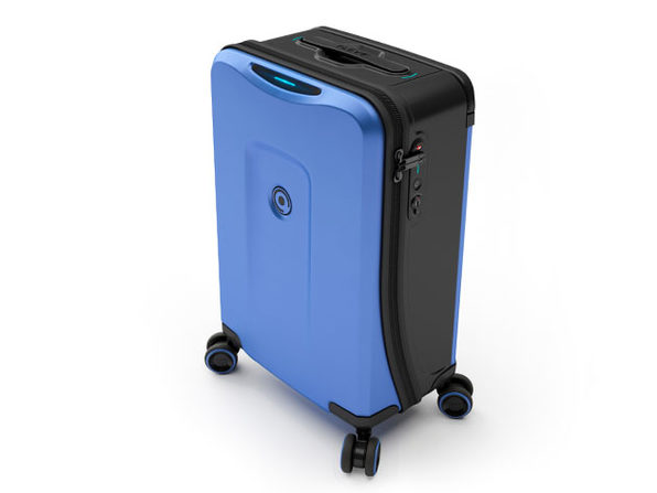 Plevo: The Runner - Smart Luggage Set (Blue)