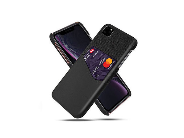 iPM iPhone 11 Credit Card Holder Shock Resistant Fabric Case