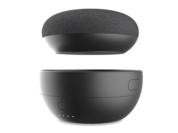 JOT Battery Base for Google Home Mini (Carbon/2-Pack)