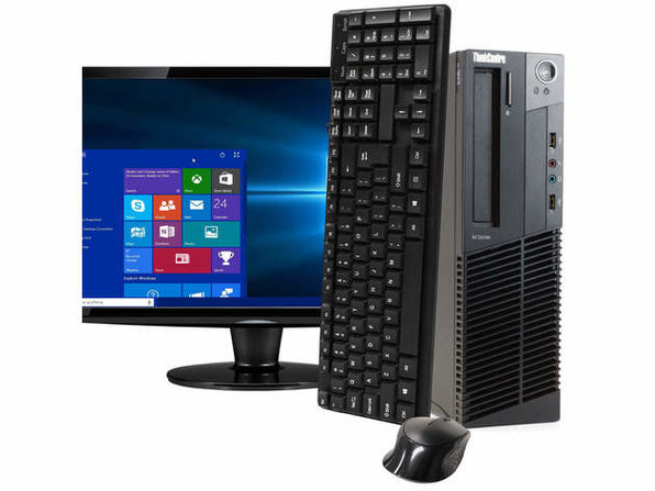"Lenovo ThinkCentre M92 Desktop PC, 3.2GHz Intel i5 Quad Core Gen 3, 8GB RAM, 1TB SATA HD, Windows 10 Home 64 bit, 22"" Screen (Renewed)"