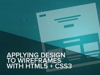 Applying Design to Wireframes with HTML5 + CSS3 Online Course - Product Image